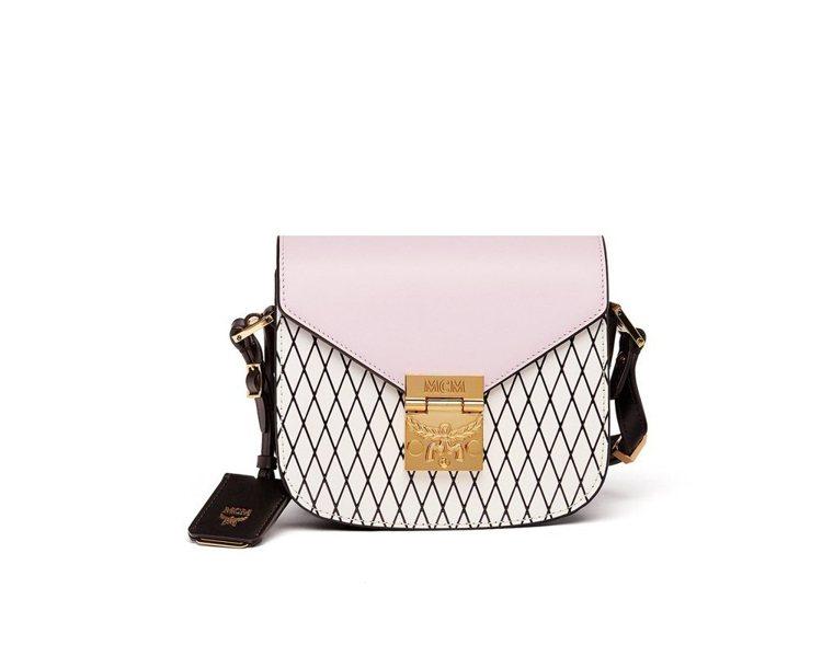 Patricia Rombi迷你型鑽石格紋粉紅色肩背包,售價25,000元。圖/...