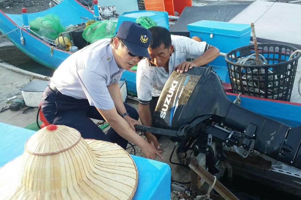 台南市警方啟動「護漁」專案,減少竊盜案發生。圖/台南市警三分局提供