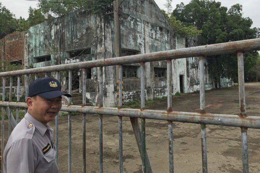 鹽水區岸內糖廠是地方重要文化資產。警方最近在當地設立巡邏點。記者鄭宏斌/攝影