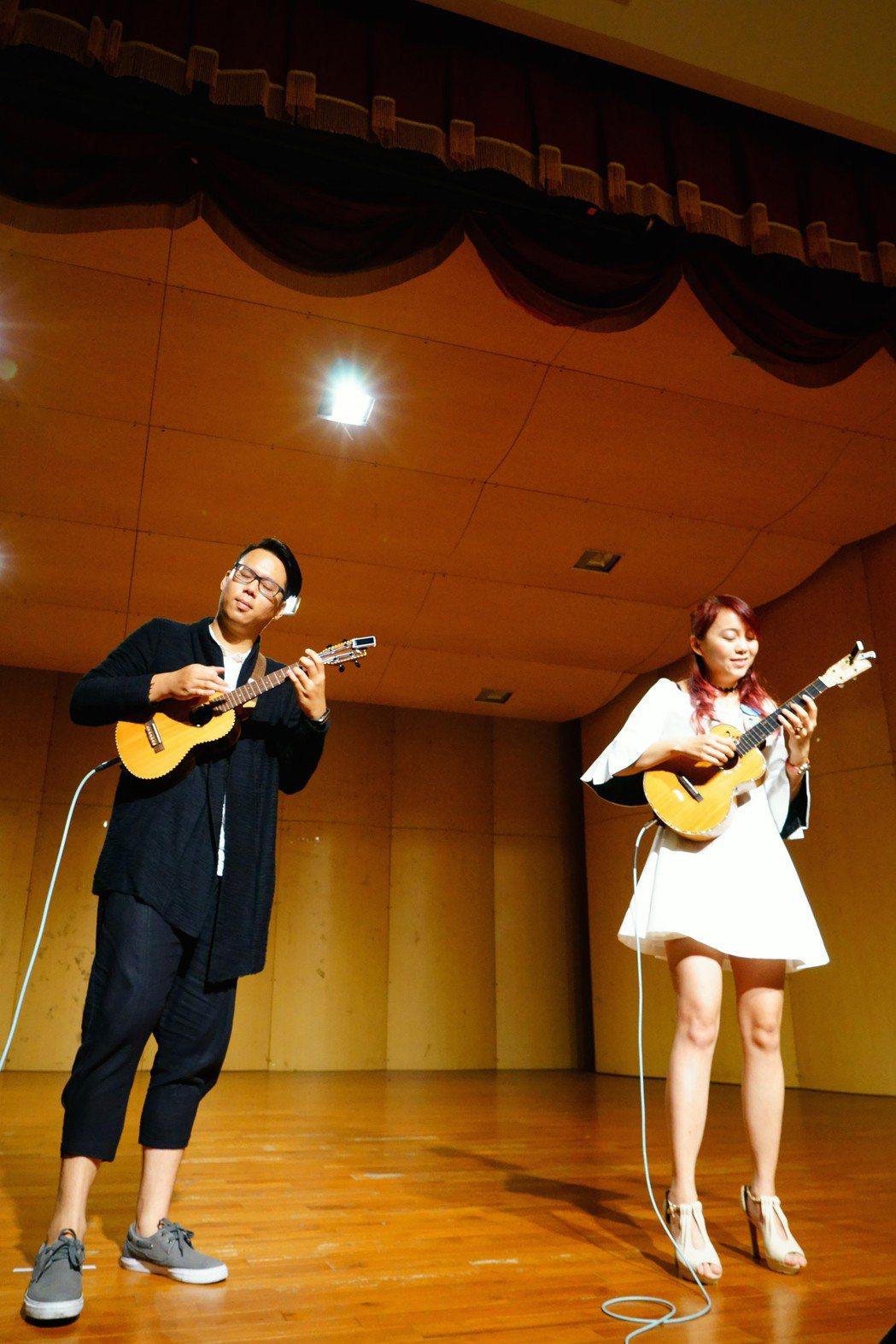 「星願」烏克麗麗樂團入圍夏威夷的音樂大獎。圖/星願烏克麗麗樂團提供