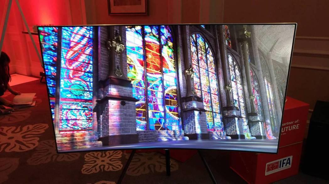 三星在IFA推出相框概念液晶電視,10月底歐洲上市。記者張義宮/攝影