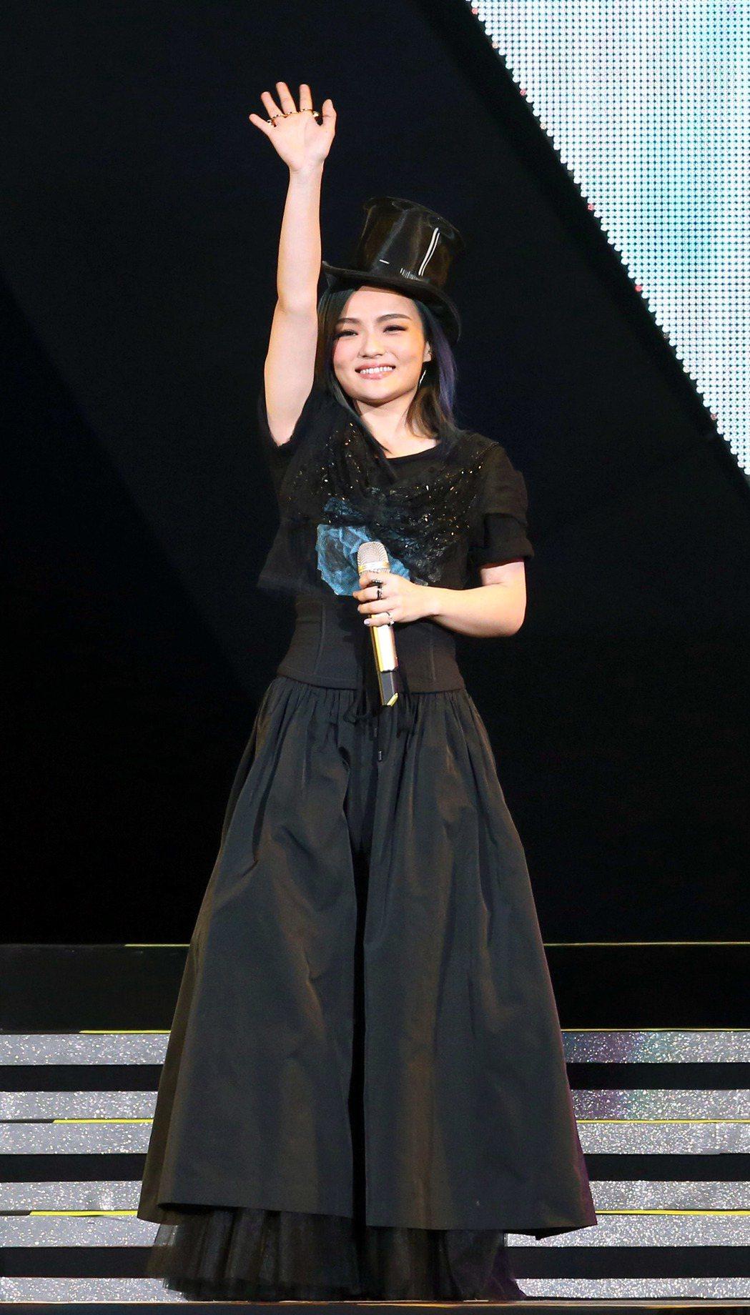 徐佳瑩「是日救星」演唱會在台北小巨蛋舉行。記者屠惠剛/攝影