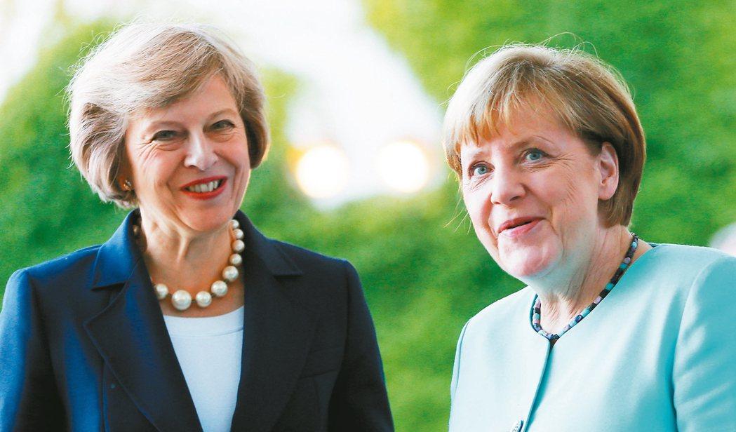 她的歷史 紐約歷史學會將放大檢視女性歷史。圖為英國首相梅伊(左)與歐盟最大經濟體...