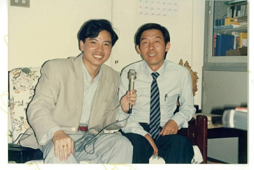 陳凱倫(左)和李季準當年的合照。圖/摘自臉書
