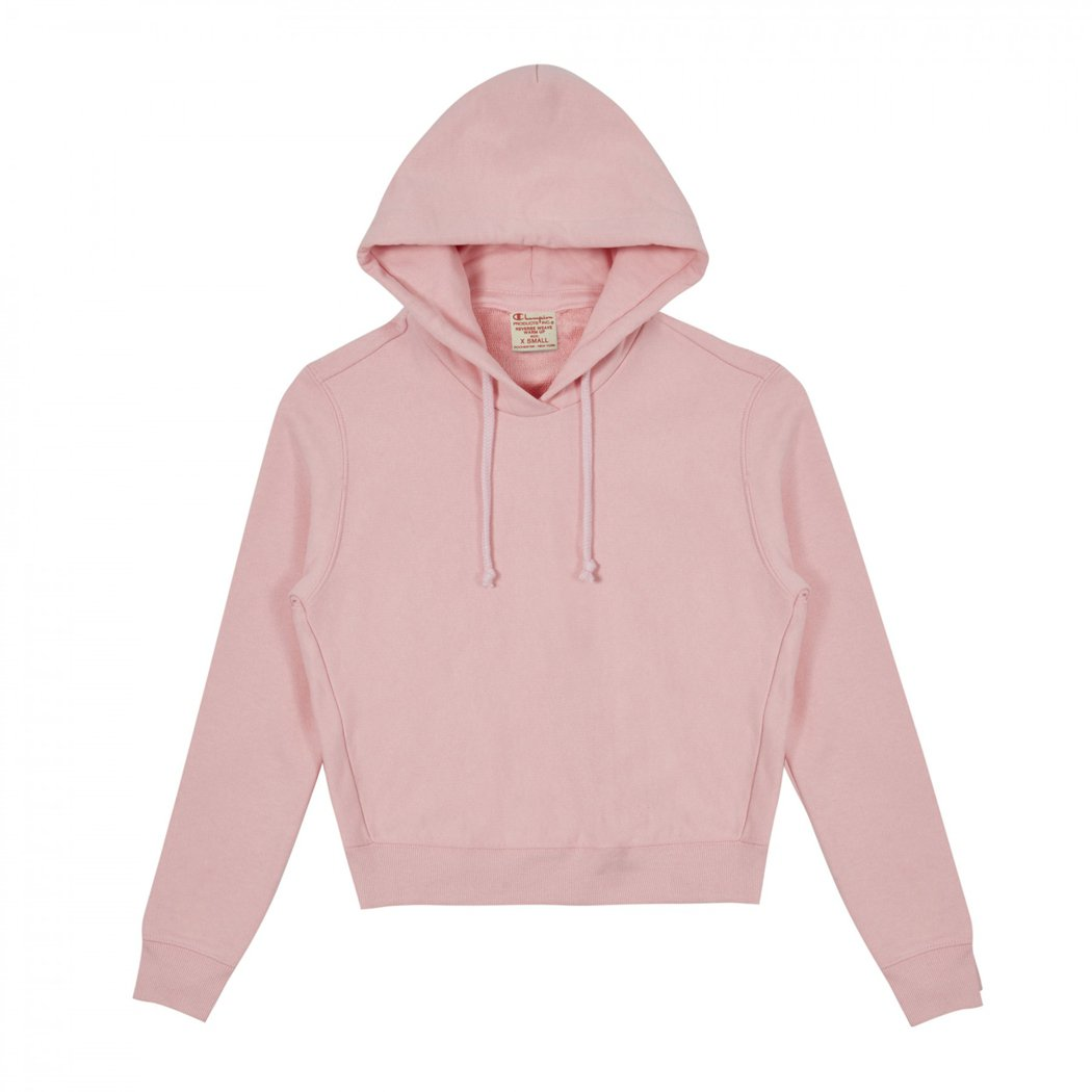 Vetements × Champion聯名款粉色連帽衫,25,800元。圖/團...