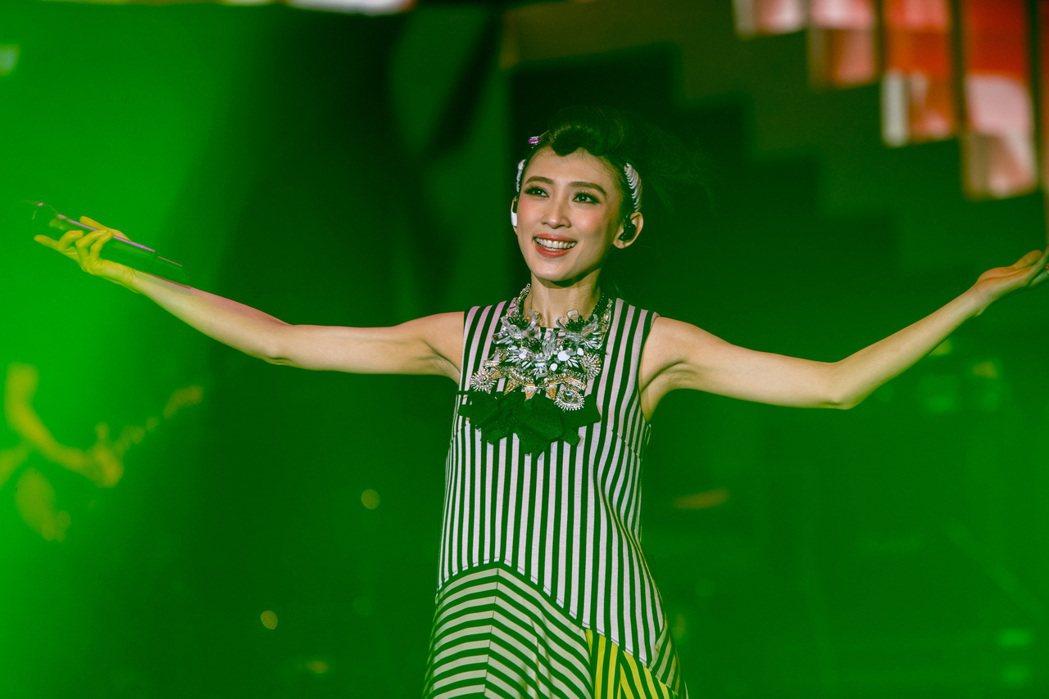 戴佩妮22日在上海開唱。圖/妮樂佛提供