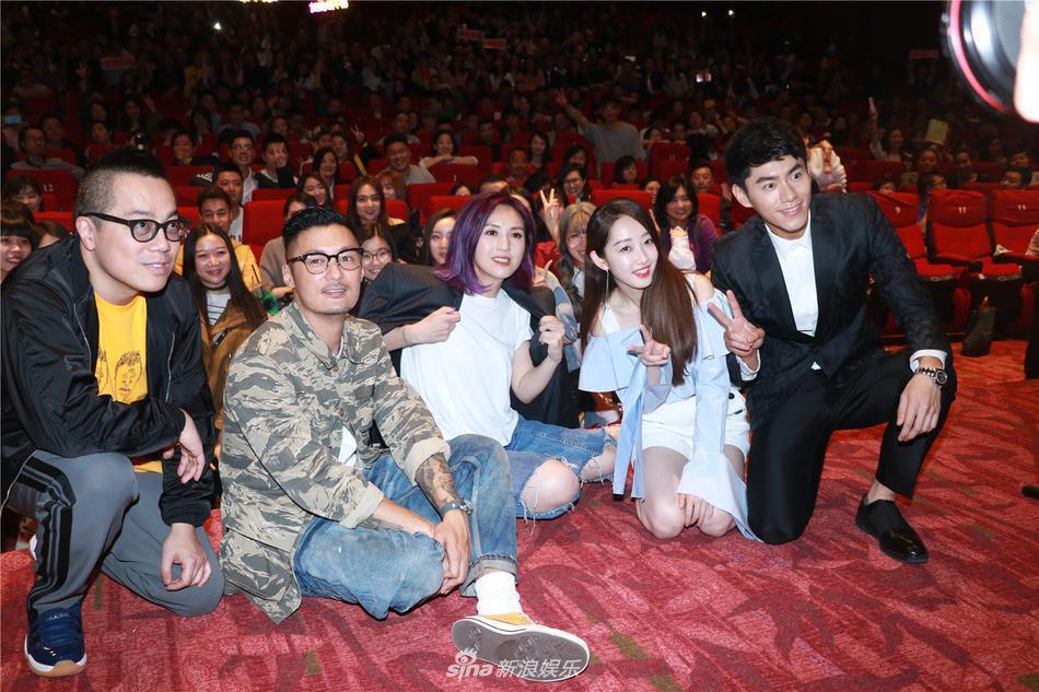 左起:「春嬌救志明」導演彭浩翔、男主角余文樂、女主角楊千嬅、蔣夢婕、李程彬,出席