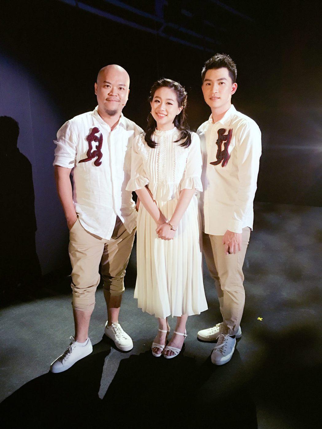 曾志遠(左)張芳瑜(中)呂承祐(右)三人演出釧兒,培養出好默契。圖/躍演劇團提供