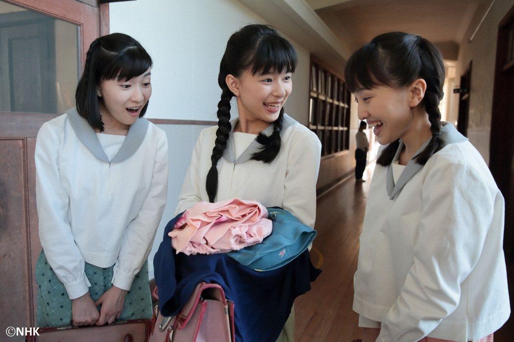 芳根京子(中)演出「童裝小姐」擔任女主角大任。圖/緯來日本台提供