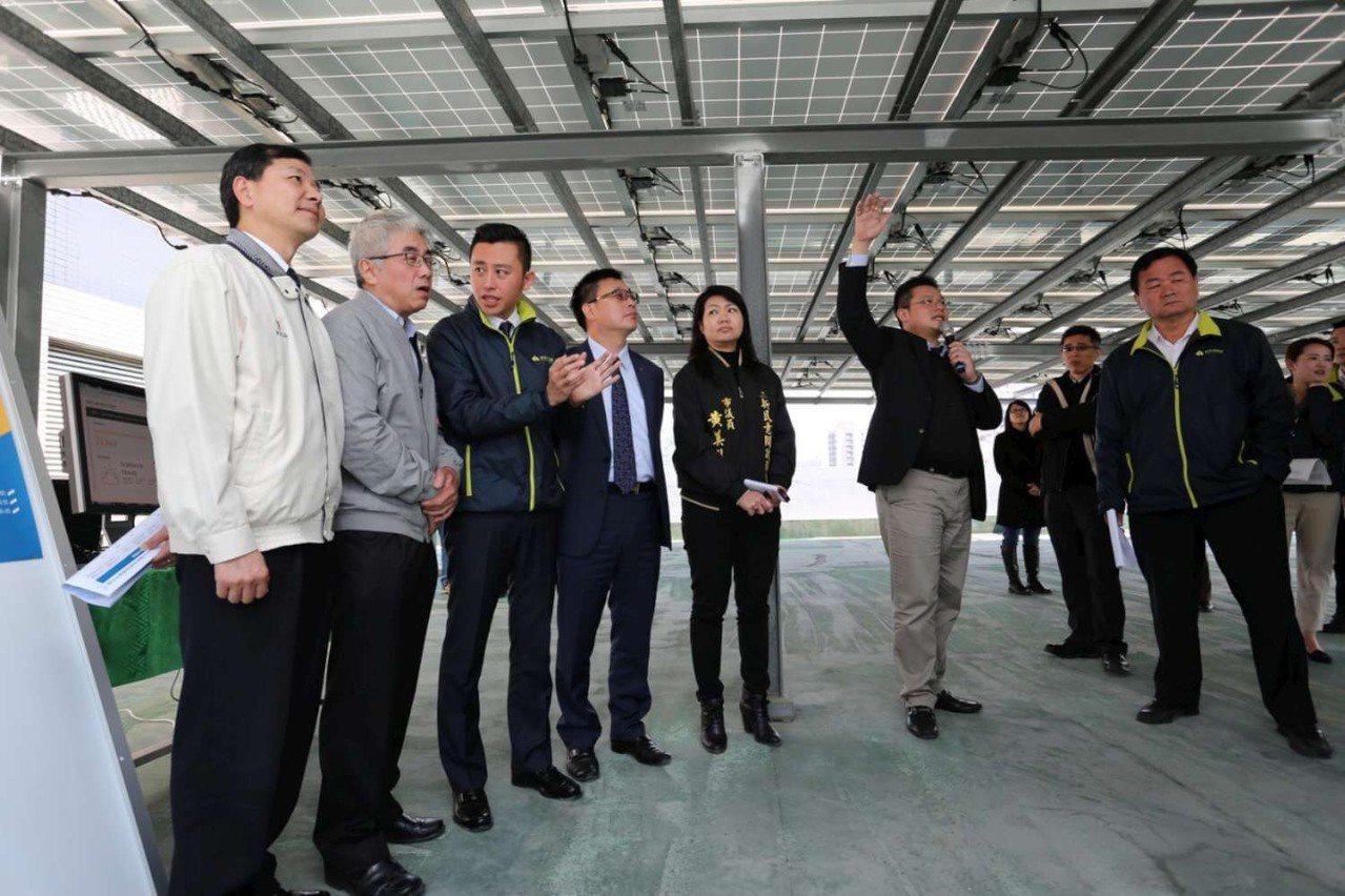 新竹市政府推展設置太陽光電發電系統,期盼吸引企業及市民響應。 圖/市府提供