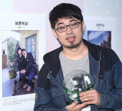 林世豪榮獲癌症希望基金會第6屆「捕捉希望」病患親友組第三名。 記者蘇健忠/攝影