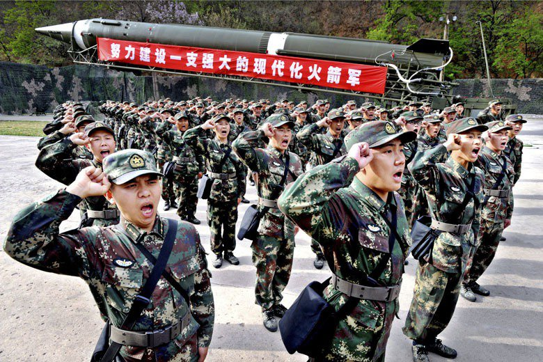 立場強硬的中國官媒《環球時報》表示,中國將做好軍事準備,以便透過武力反對美韓聯軍顛覆北韓政權。 圖/中新社