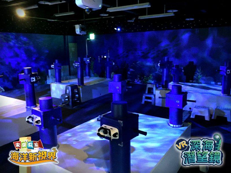 VR深海潛望鏡-專為孩童設計,無須穿戴即可體驗/圖i-FUN HUB 提供