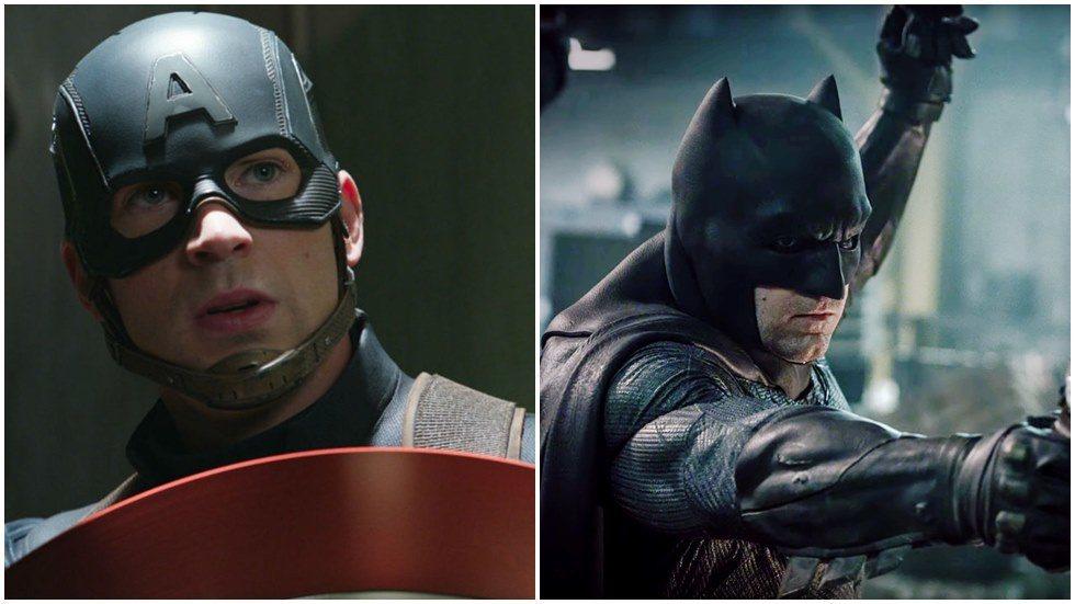 美國隊長、蝙蝠俠到底誰比較強?圖/博偉提供、華納兄弟提供