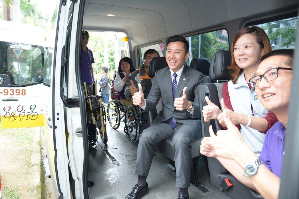 新竹市政府啟動身心障礙者微旅行計畫,身心障礙者免費,六人成行,到府接送。記者林家...