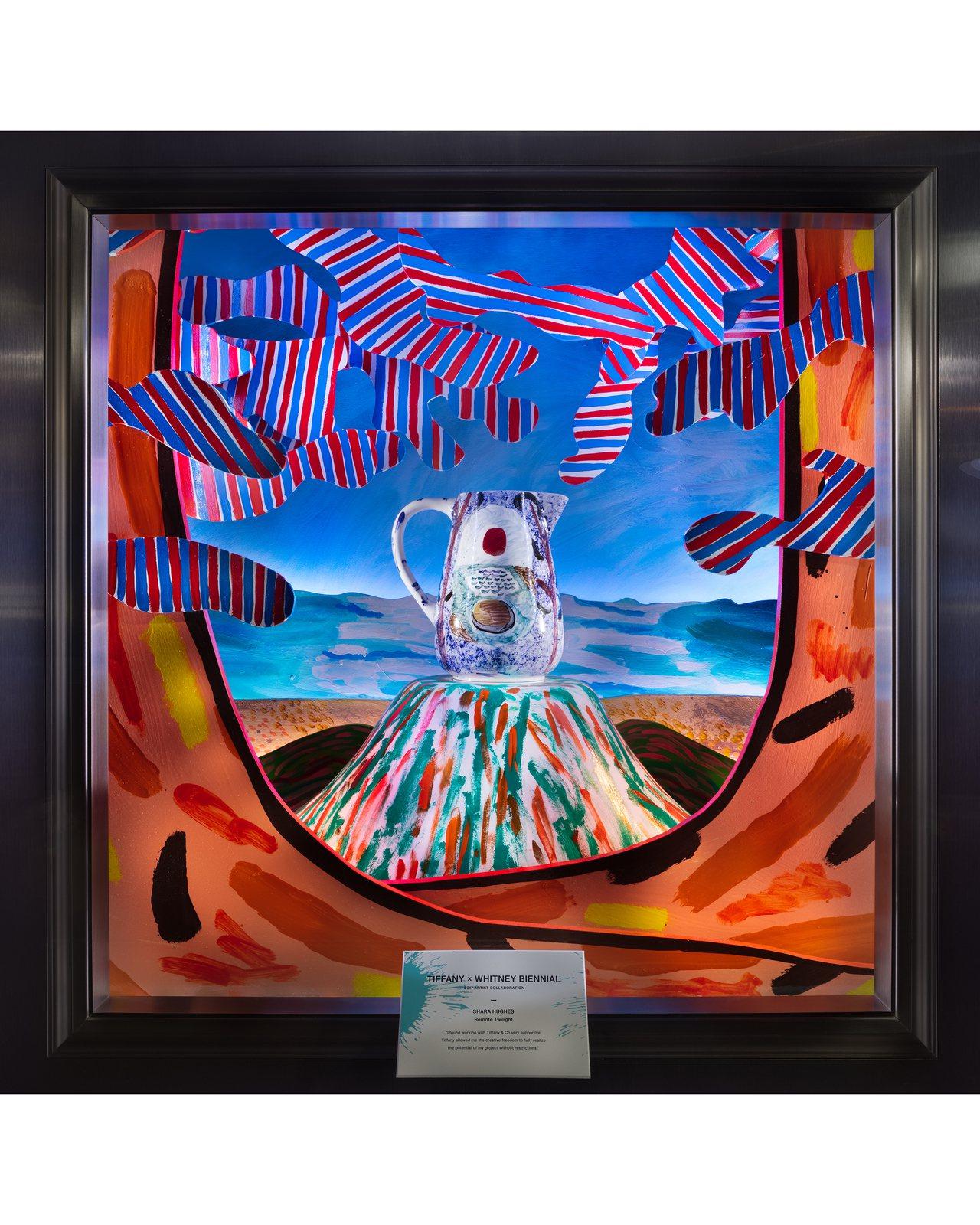 Tiffany與2017年惠特尼雙年展合作藝術家Shara Hughes合作,並...