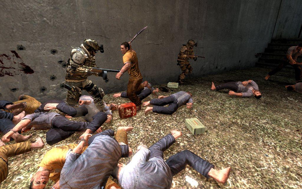 「血戰:逃脫」任務目標是通過六個階段的關卡,前往直昇機停機坪並成功脫逃。