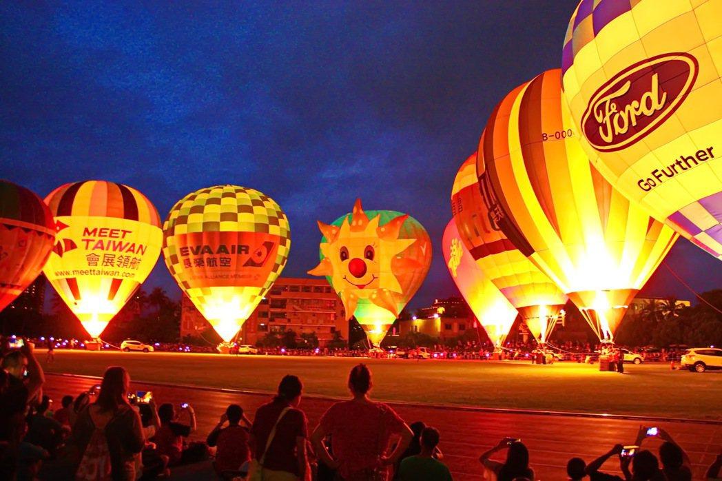 曾在2015年移師台東體育場舉辦熱氣球光雕秀的台灣熱氣球嘉年華活動,今年將再次移...