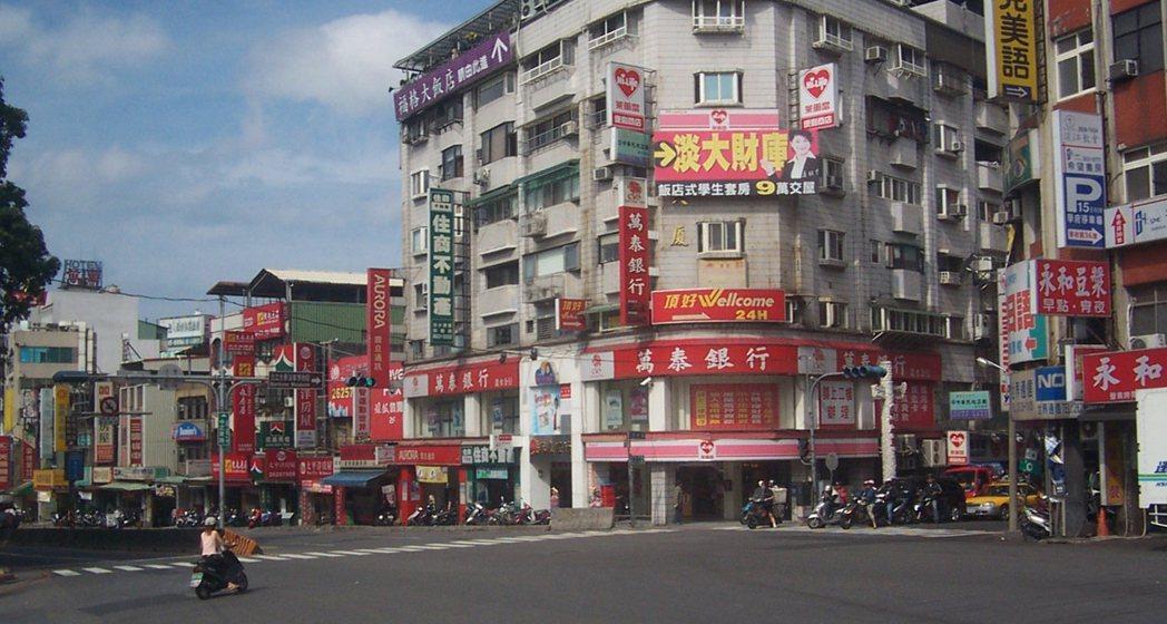 隨房市反轉、店面價格下修,大台北有七區店面投報率回升到3%以上,其中淡水區達4%...