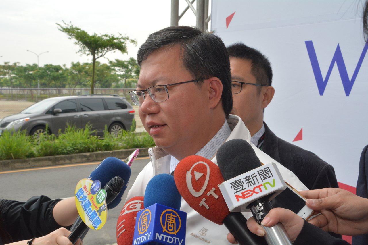 鄭文燦強調「亞洲.矽谷」計畫執行中心在桃園,也是帶動臺灣智慧產業發展的引擎。記者...