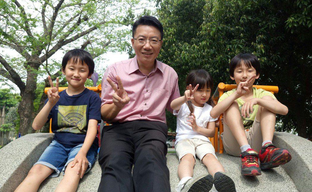 日籍小朋友來後塘國小借讀,都說來台上課相當開心。記者卜敏正/攝影