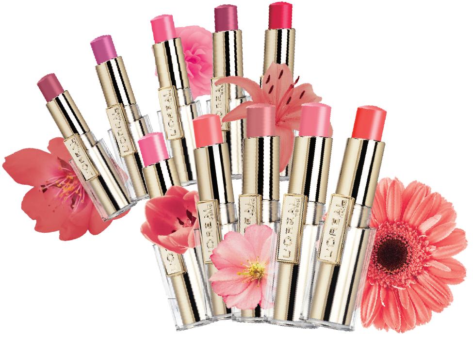巴黎萊雅花漾誘色水唇膏,售價340元,共10色。圖/巴黎萊雅提供