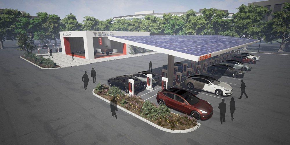 今年特斯拉將擴大全球的充電網絡。 Tesla提供