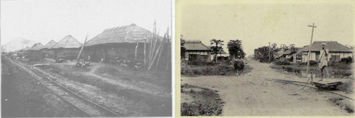 左:賀田移民村一景。圖/wikiwand右:吉野村。