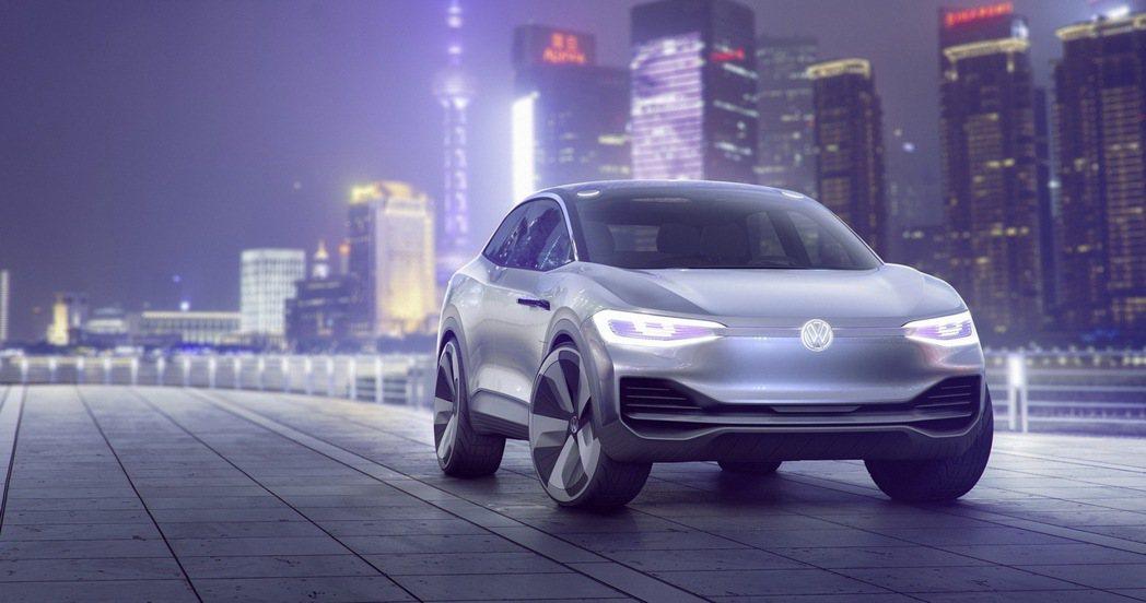 Volkswagen於2017上海車展推出純電動跨界跑旅Volkswagen I...