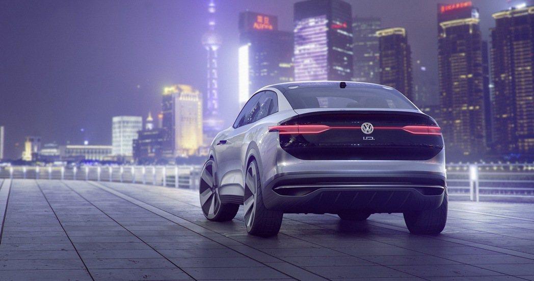 Volkswagen I.D. CROZZ概念車。 圖/台灣福斯提供