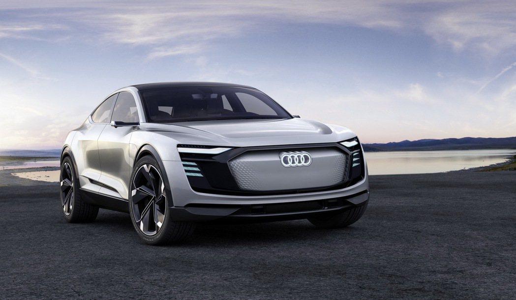 Audi e-tron Sportback concept於上海車展全球首發,整合照明科技與造車設計。 圖/台灣奧迪提供