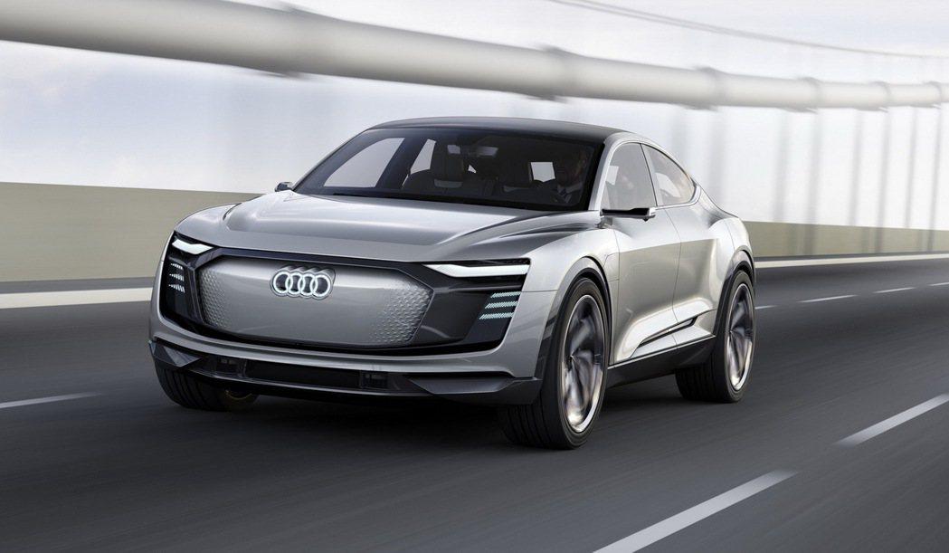 全新Audi e-tron Sportback concept概念車預計2019年正式投入量產。 圖/台灣奧迪提供