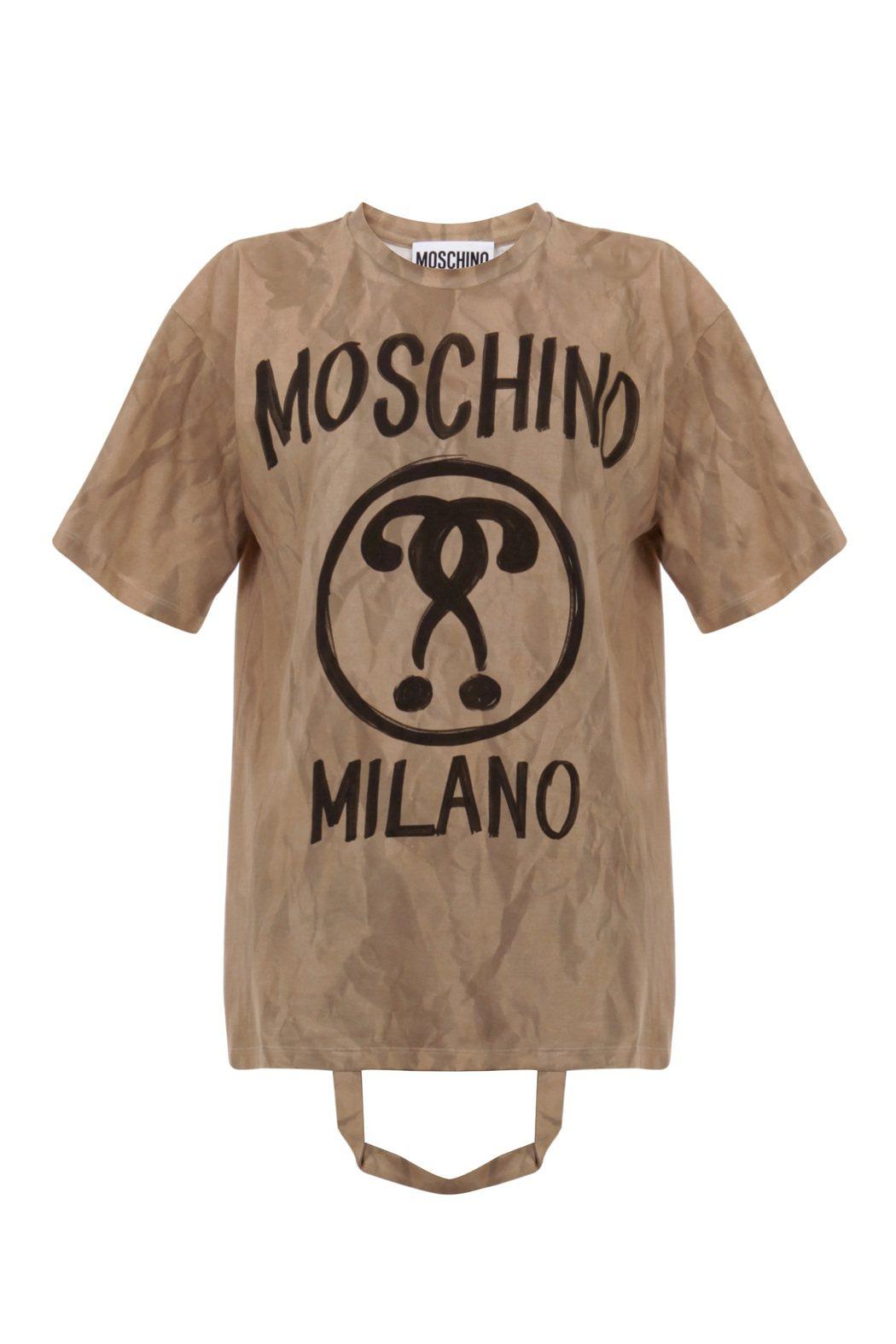 紙袋造型上衣,12,800元。圖/MOSCHINO提供