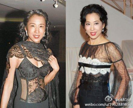 朱玲玲近年來容貌、體態仍保養得宜,是個亮麗的貴婦。圖/摘自微博