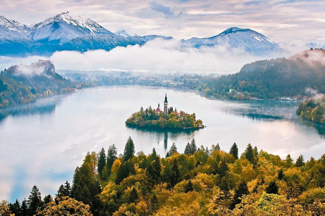 擁有「中歐綠寶石」美名的布萊德湖。 圖/斯洛維尼亞旅遊局