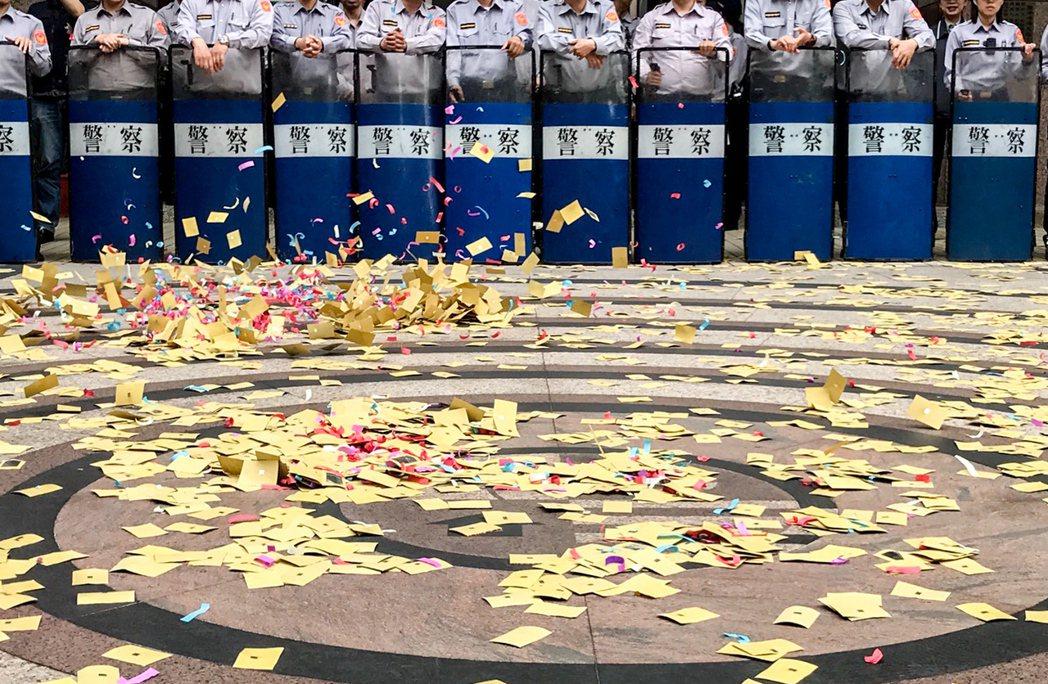 民進黨執政後,抗議遍地開花。 本報資料照片