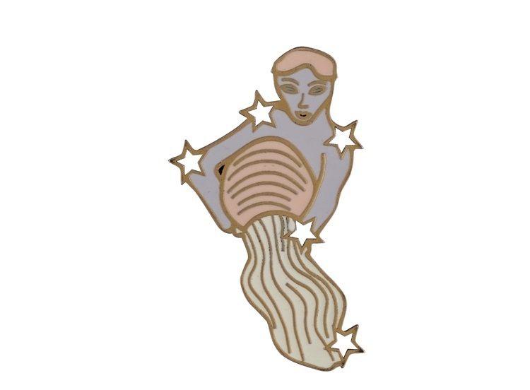 My Lady Dior Star水瓶座幸運徽章,售價1,300元。圖/DIOR...