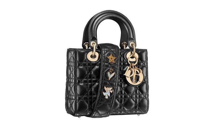 My Lady Dior Star小羊皮幸運徽章背帶手提包(大),售價110,0...