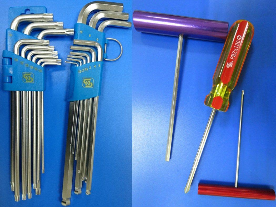 板手、螺絲起子、T把,超過日本品質。 順典手工具/提供