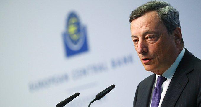 歐洲央行總裁德拉基。 路透