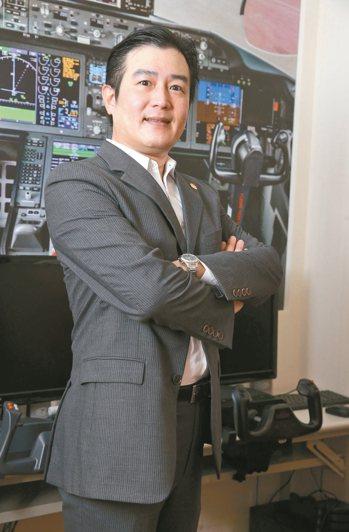 愛爾航空培訓機構總經理汪逸仁。 記者胡經周/攝影