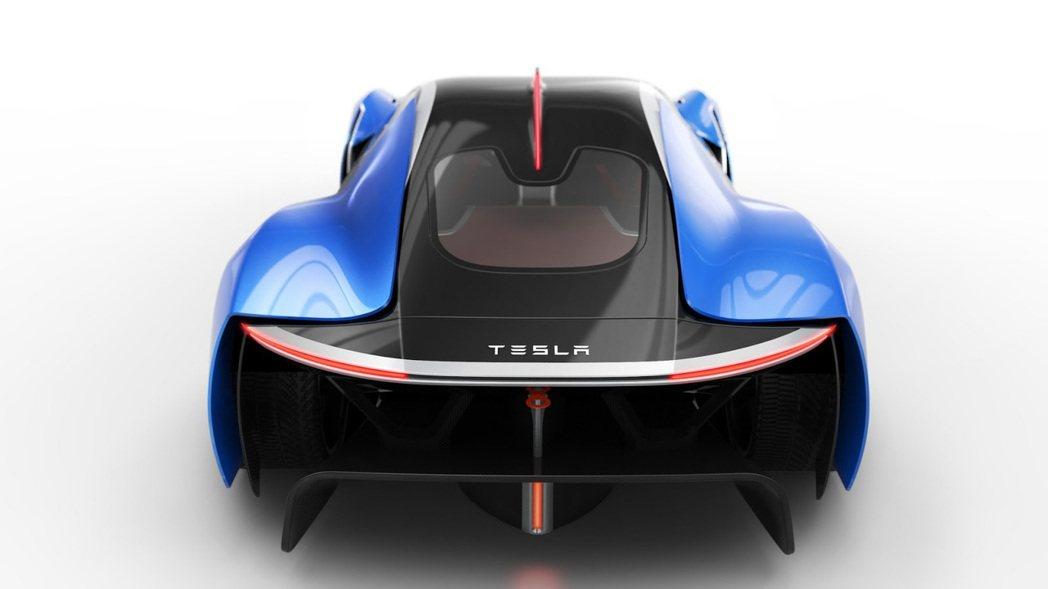 西班牙設計師Xabier Albizu運用才華,設計出他腦海中的Tesla Supercar「Model EXP」。圖/摘自carscoops.com
