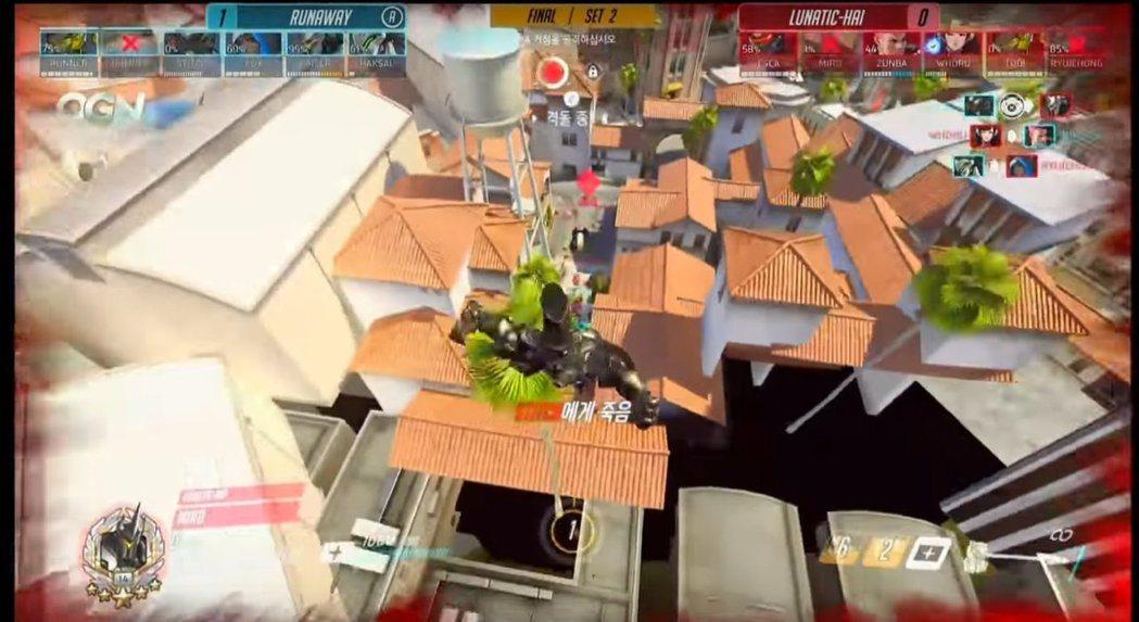 Miro的萊因被擊飛到空中。