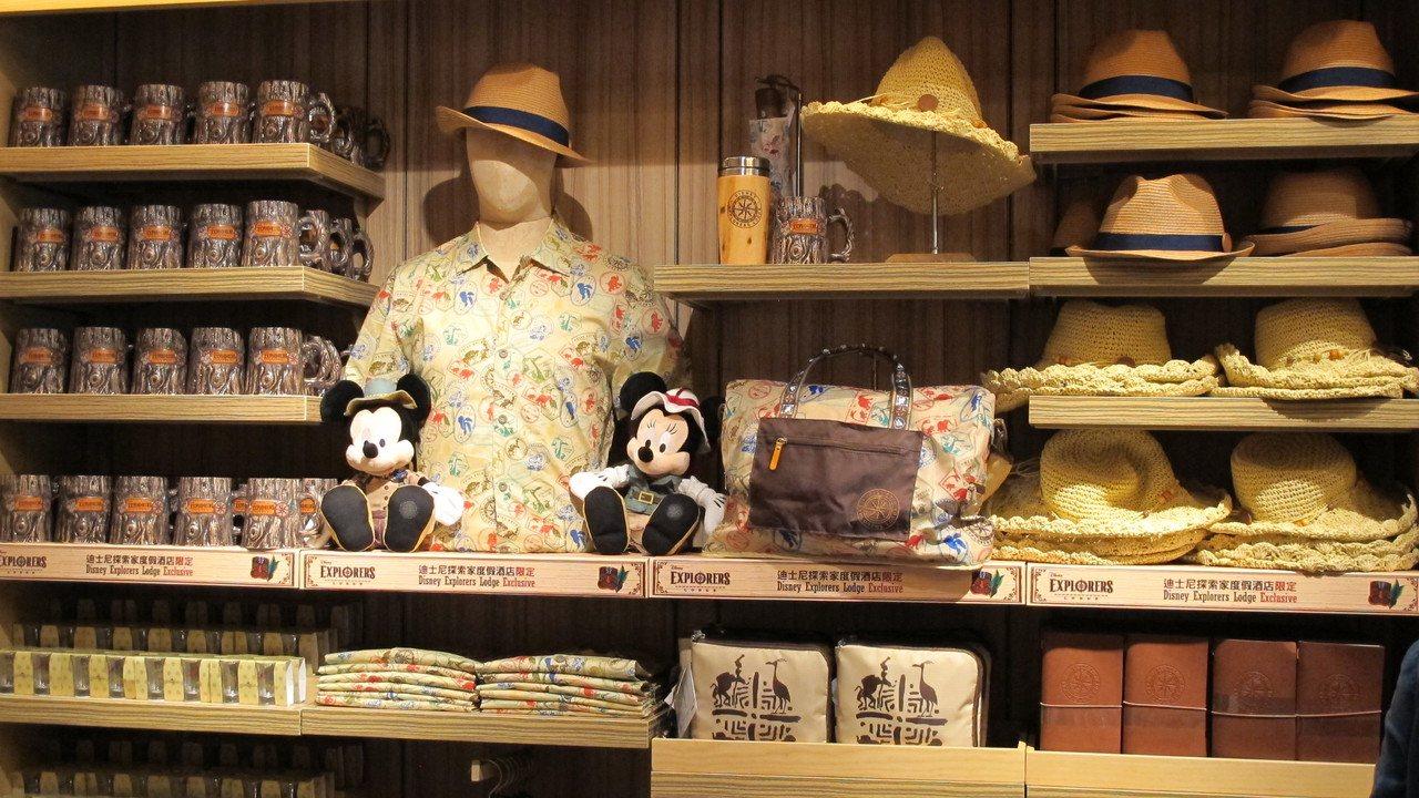 迪士尼探索家度假酒店「叢林商店」探索家系列商品。記者曾楹純/攝影