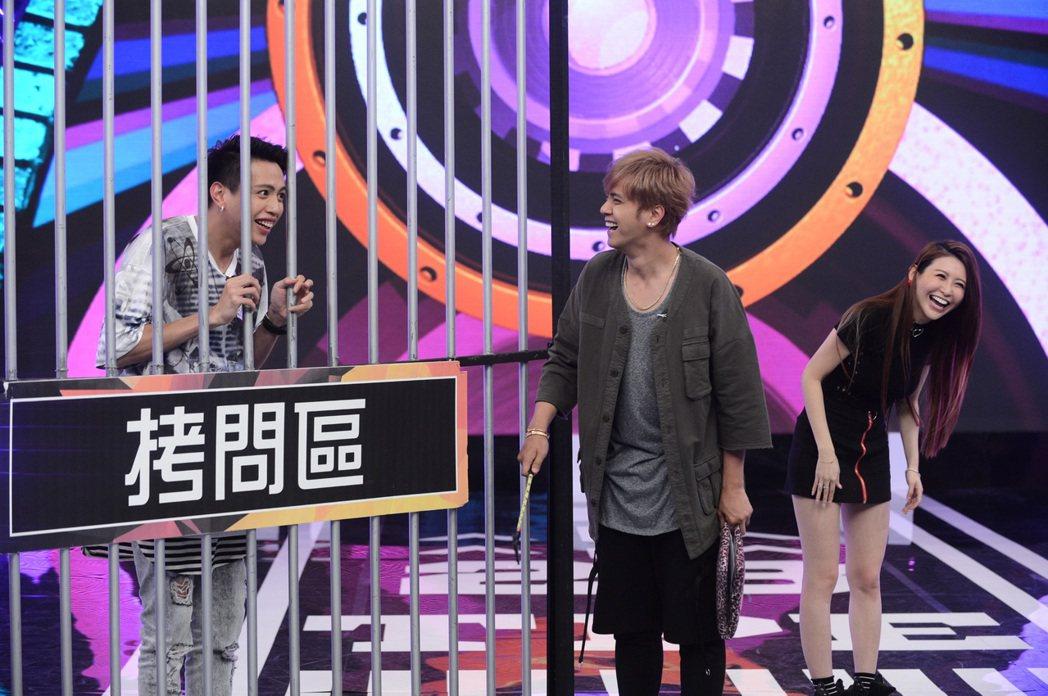 (左起) 鯰魚哥、羅志祥、愷樂。圖/八大提供