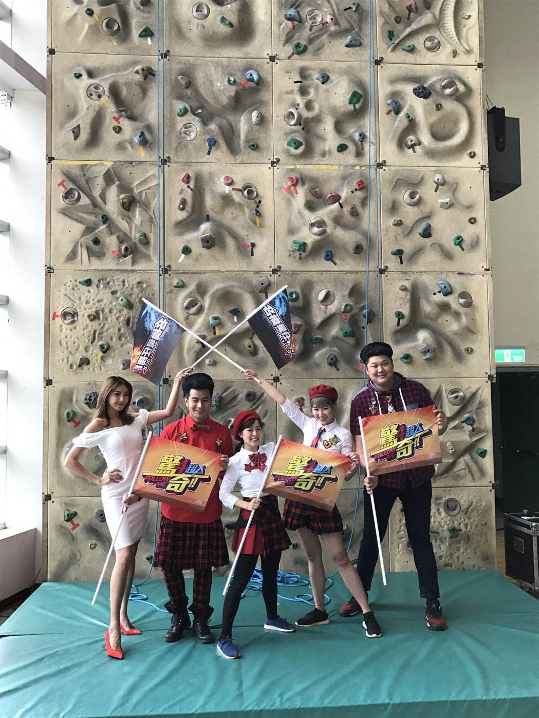 哈孝遠(右起)、李懿、林彥君、郭彥均和陳思璇近期都有新節目推出。記者葉君遠/攝影