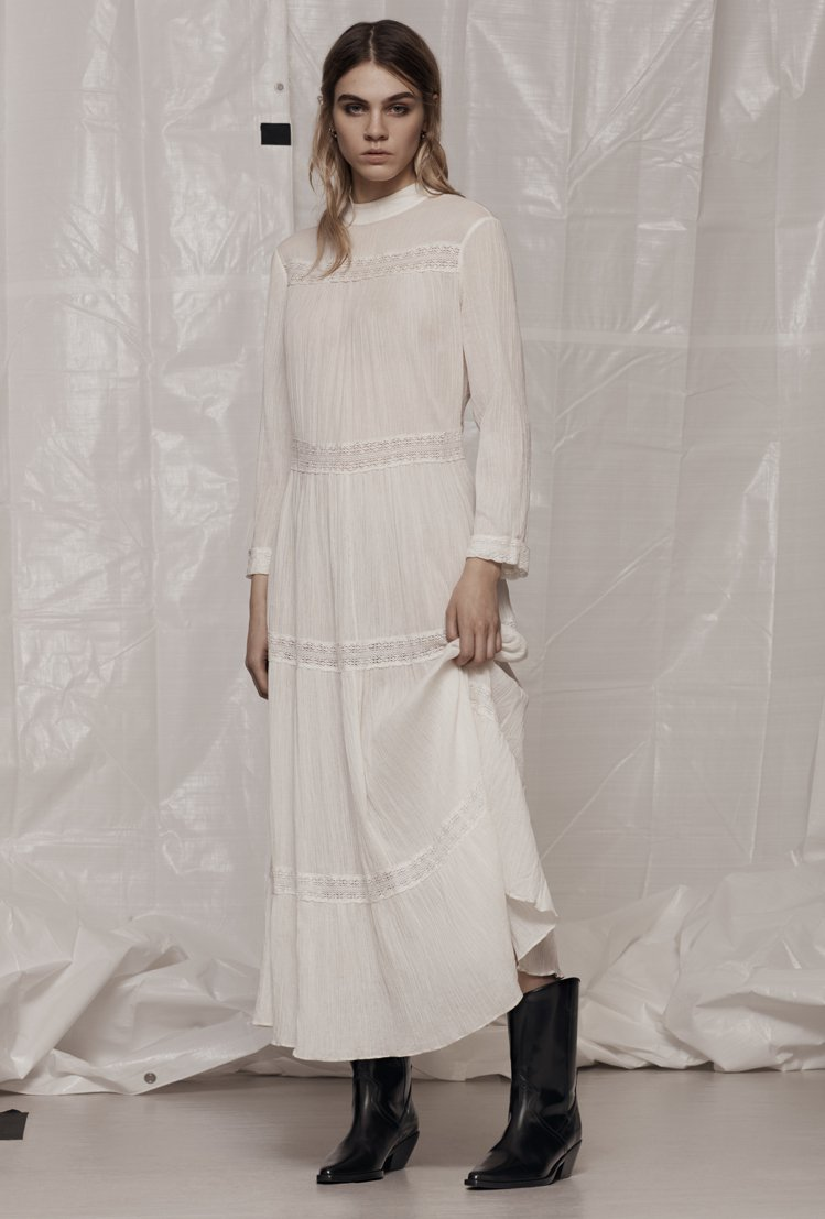 微風獨家限量10件Nima蕾絲洋裝,售價10,100元。圖/AllSaints提...