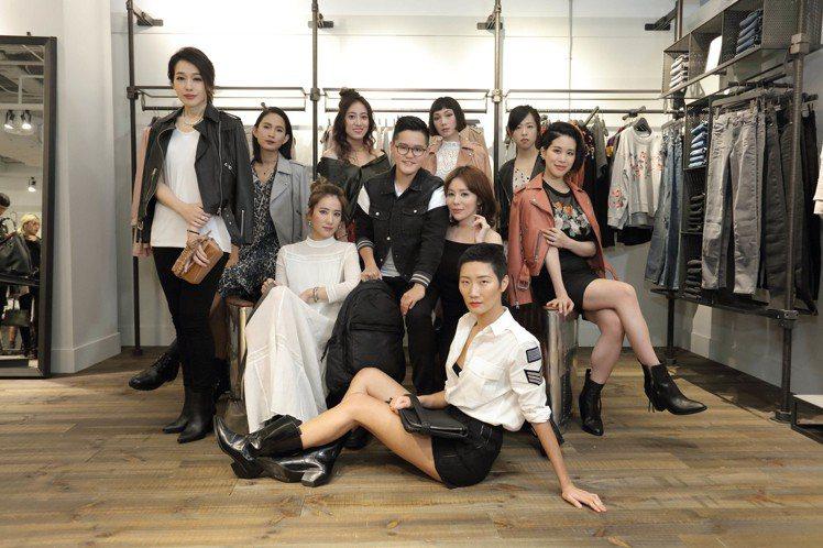 十大女力設計者共同出席AllSaints微風廣場專門店開幕。圖/AllSaint...