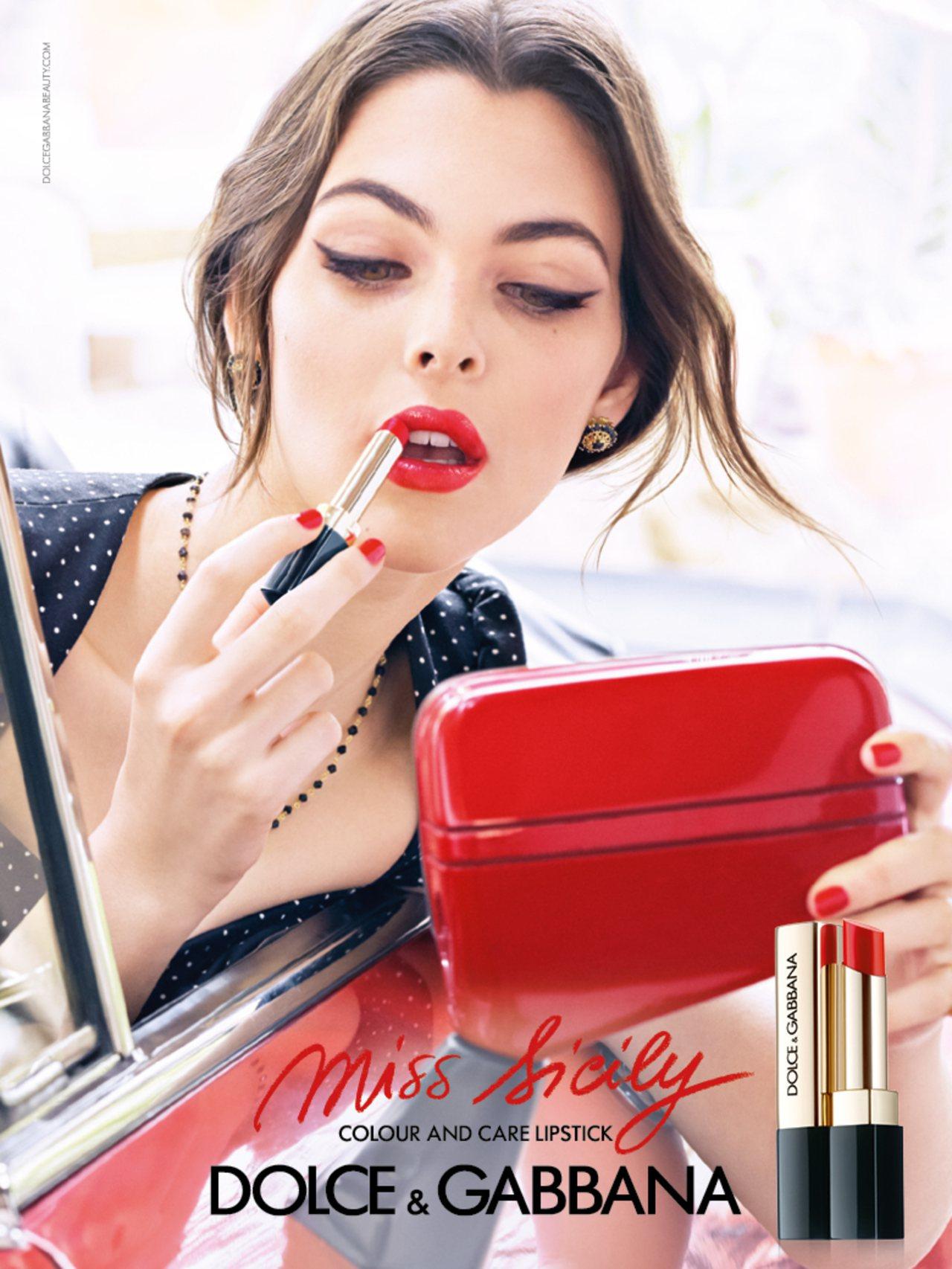 Miss Sicily唇膏主視覺。圖/Dolce & Gabbana提供