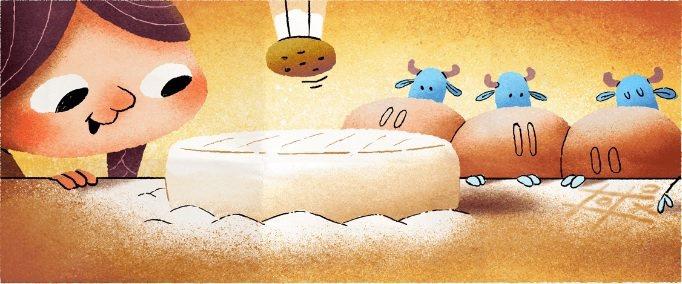 今天是卡芒貝爾乳酪研發者瑪麗.哈瑞爾的256歲冥誕,谷歌首頁塗鴉特別向她致敬。圖...